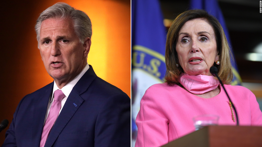 McCarthy jokes 'it will be hard not to hit' Pelosi with gavel if he becomes House speaker